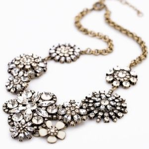 """LAST ONE """"Bianca"""" Crystal Bloom Statement Necklace"""